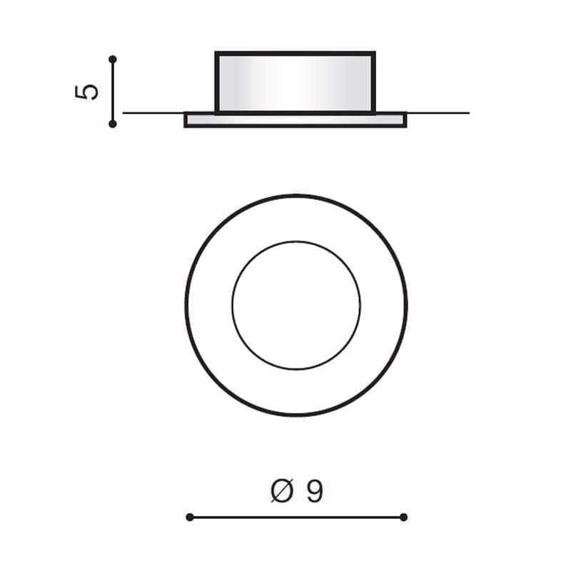 Įmontuojamas šviestuvas EMILIO matmenys