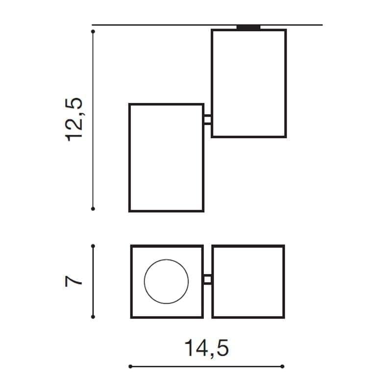 Lubinis šviestuvas FLAVIO matmenys