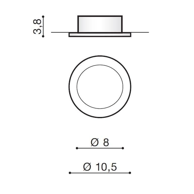 Įmontuojamas šviestuvas IBIZA matmenys