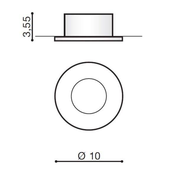 Įmontuojamas šviestuvas OSCAR IP44 matmenys