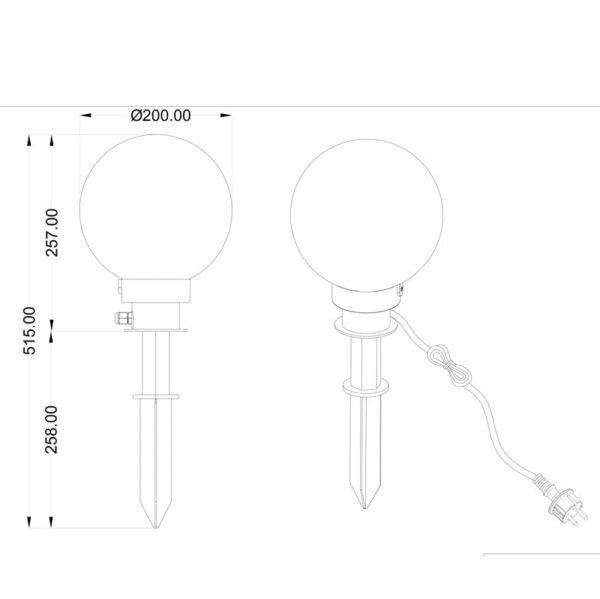 Įsmeigiamas lauko LED šviestuvas Bolo ⌀ 20