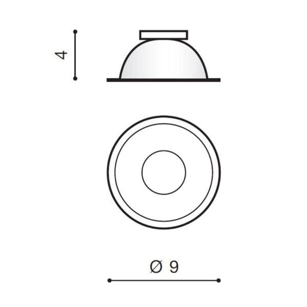 Šviestuvų vidinis rėmelis REMO R matmenys