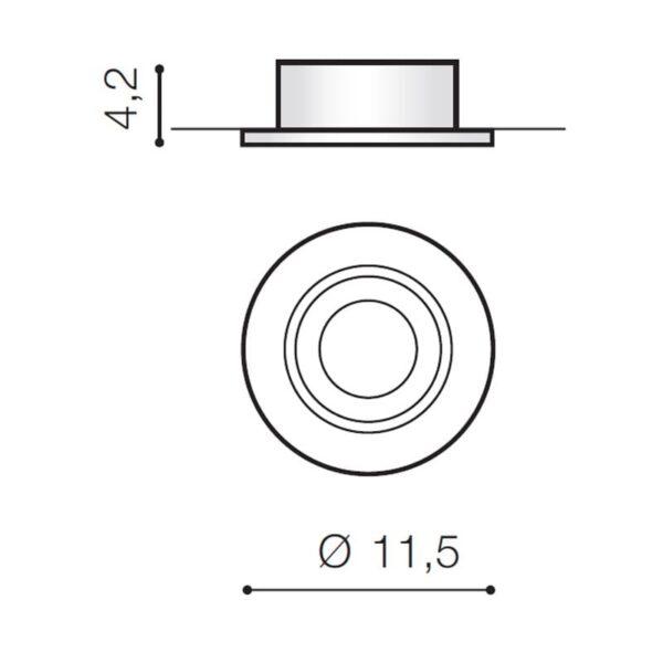 Įmontuojamas šviestuvas REMO matmenys