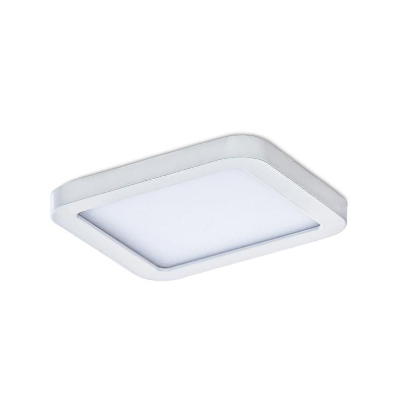 Įmontuojamas šviestuvas SLIM SQ IP44 baltas