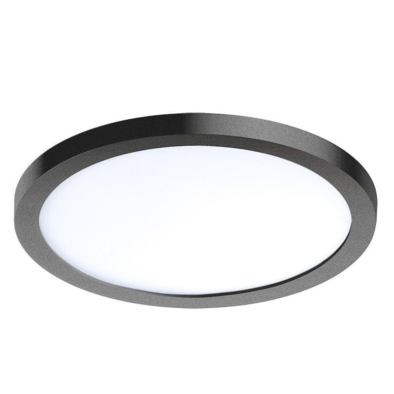 Įmontuojamas šviestuvas SLIM R2 IP44 juoda