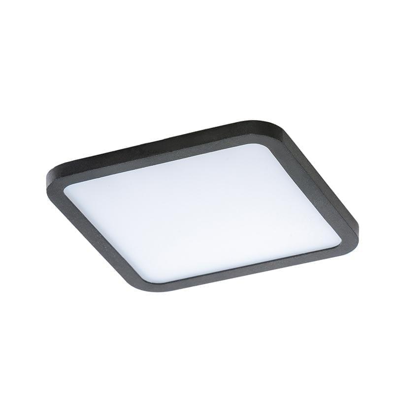 Įmontuojamas šviestuvas SLIM SQ2 IP44 juoda