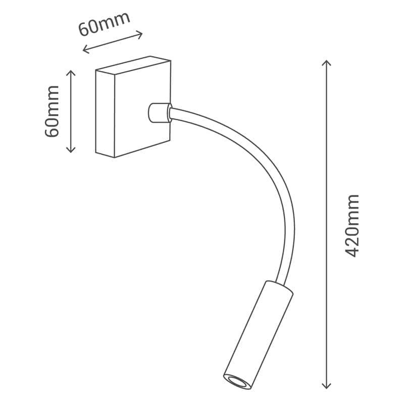 Sieninis LED šviestuvas Bed