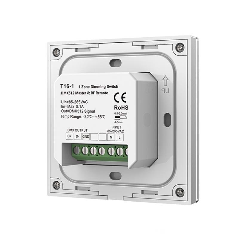 Sieninis sensorinis LED valdiklis T16-1 nugara