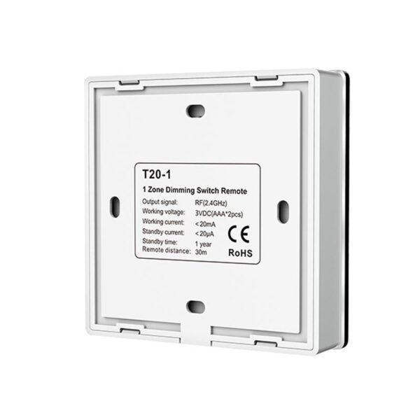 Išorinis sensorinis LED valdiklis T20-1 nugara
