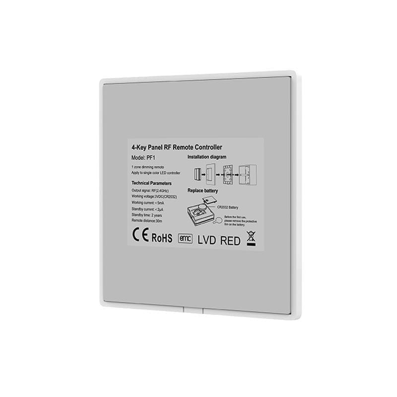 2 zonų Išorinis belaidis LED valdiklis PF1-2 2