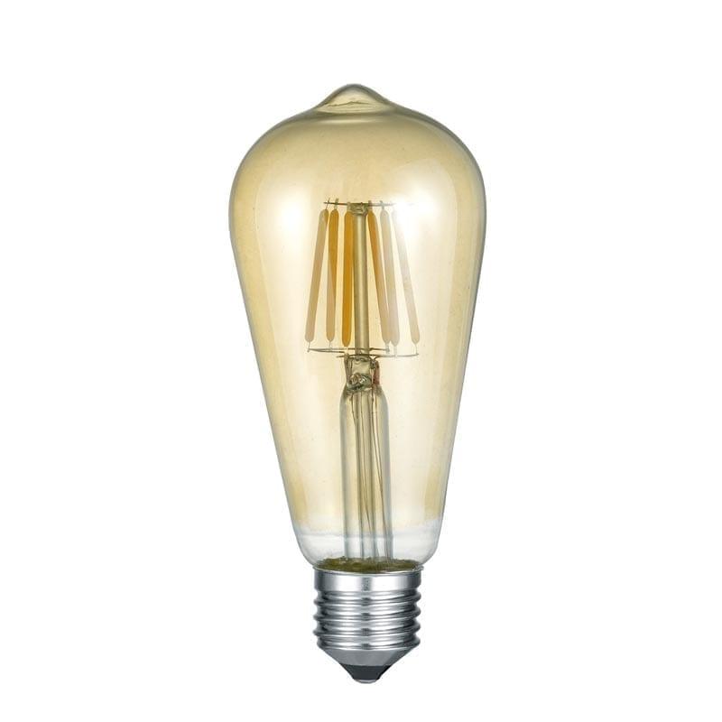 6W 2700K E27 LED lemputė ST64 Amber