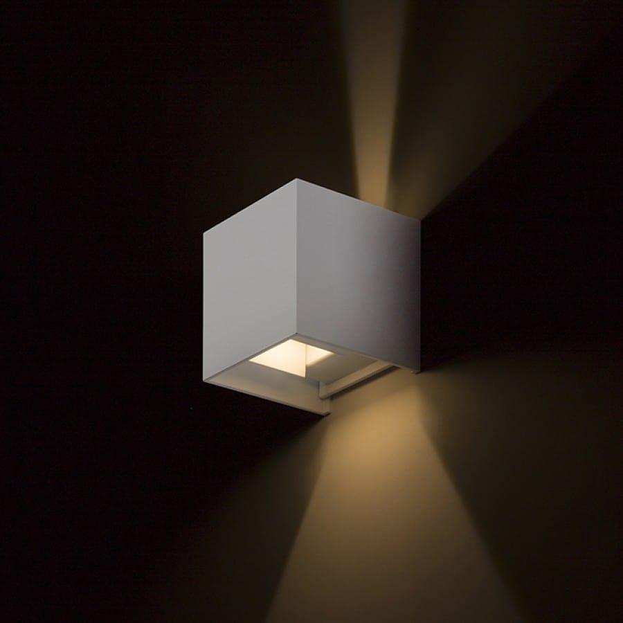 Sieninis lauko šviestuvas Carre White