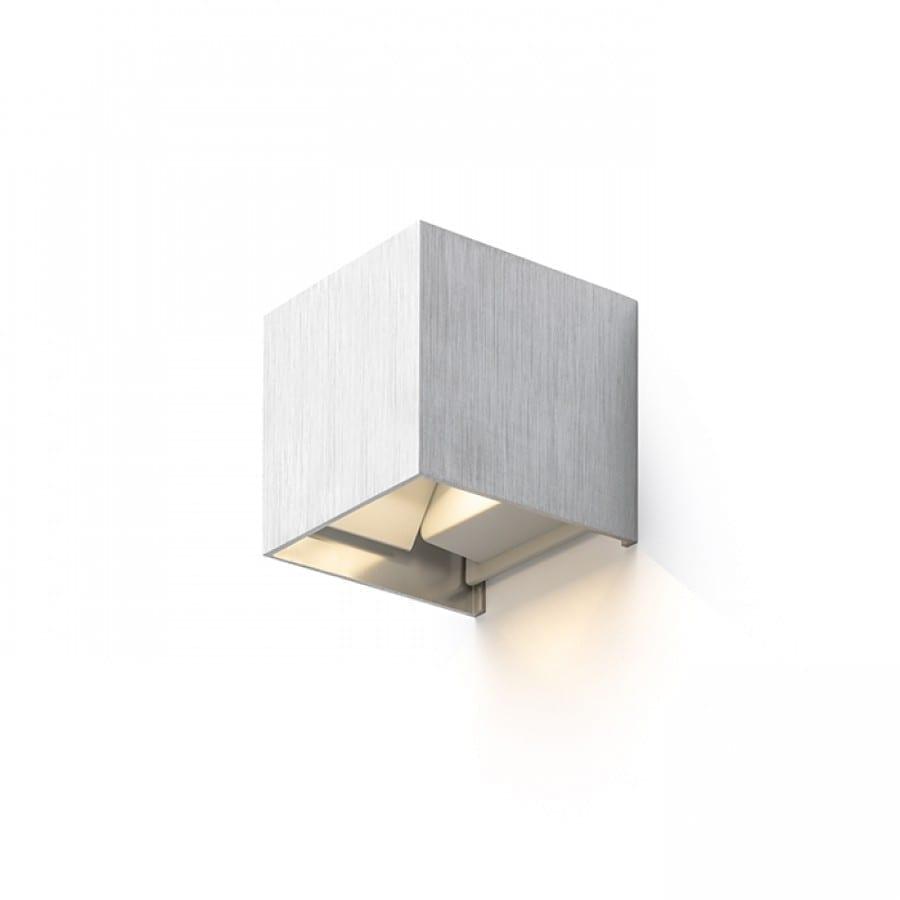 Sieninis lauko šviestuvas Tito SQ Brushed Aluminium