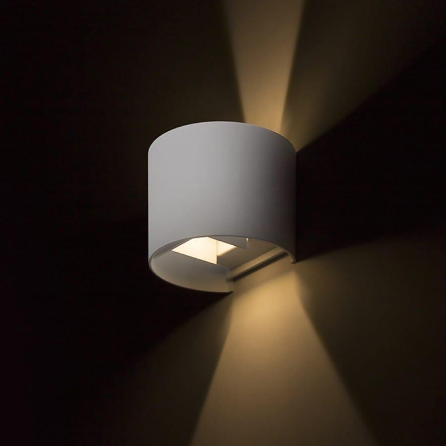 Sieninis lauko šviestuvas Tito R Brushed Aluminium