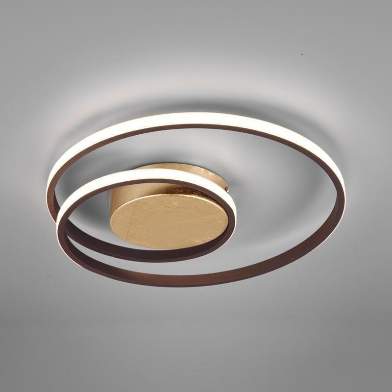 Lubinis LED šviestuvas Zibal Rusty Gold