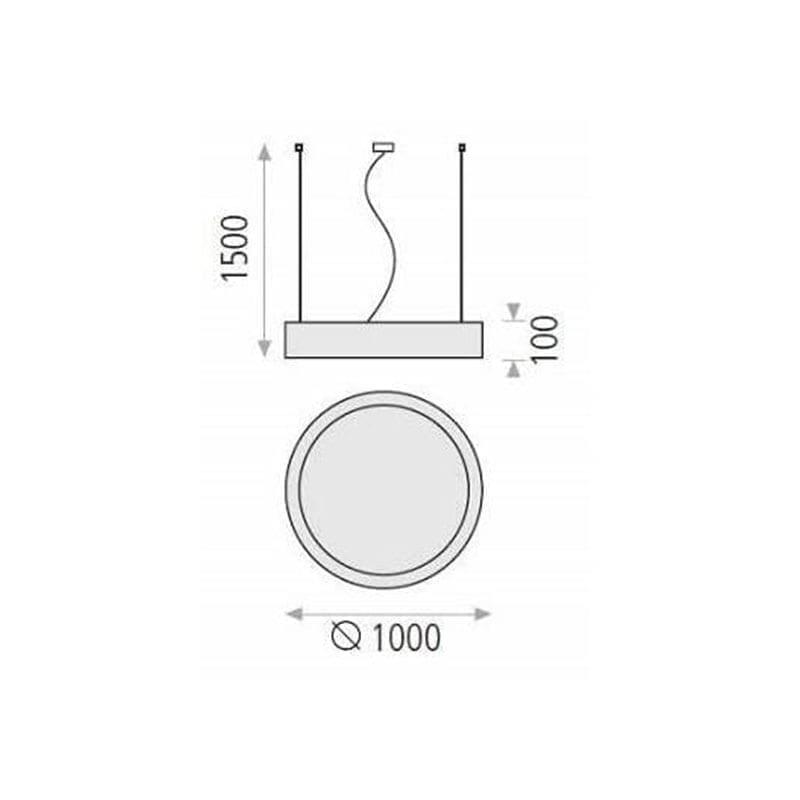 40W Pakabinamas šviestuvas Isia 100 matmenys