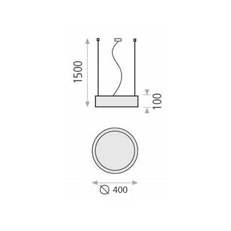 40W Pakabinamas šviestuvas Isia 40 matmenys