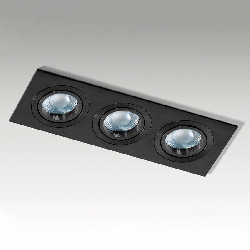 Įmontuojamas kryptinis šviestuvas Caro 3 Black