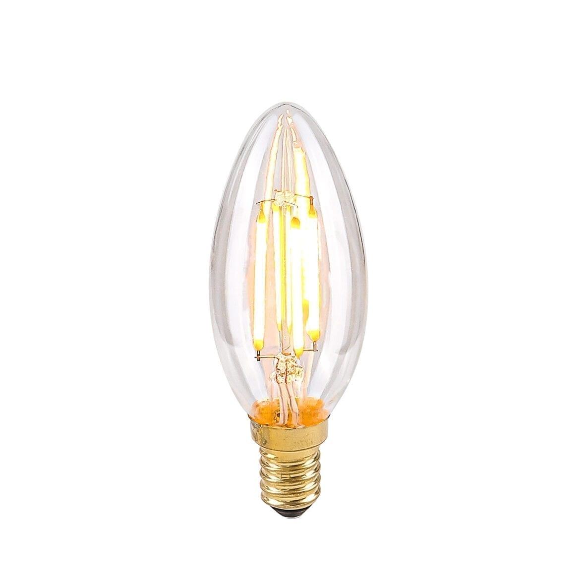 Dekoratyvinė lemputė E14 4W B35 Clear