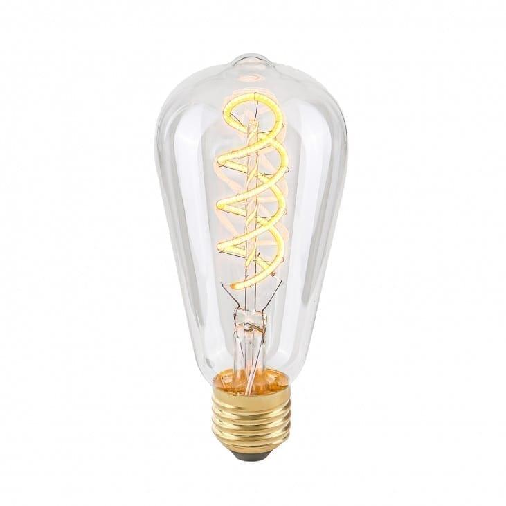 Dekoratyvinė lemputė E27 4W ST64 Spiral Clear