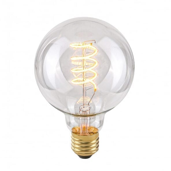 Dekoratyvinė lemputė E27 4W G95 Spiral Clear