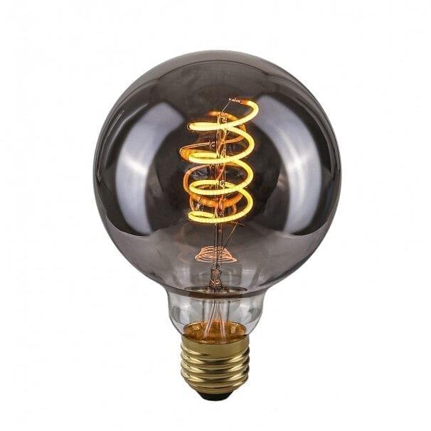 Dekoratyvinė lemputė E27 4W G95 Spiral Smoke