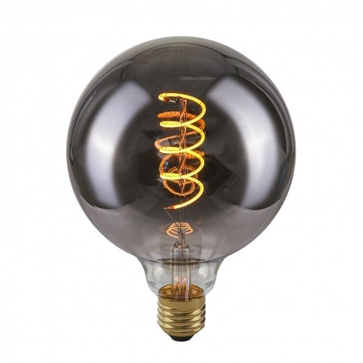 Dekoratyvinė lemputė E27 4W G125 Spiral Smoke