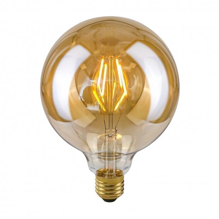 Dekoratyvinė lemputė E27 4W G125 Amber