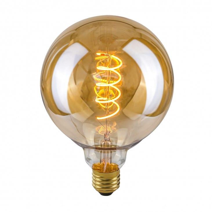 Dekoratyvinė lemputė E27 4W G125 Spiral Amber