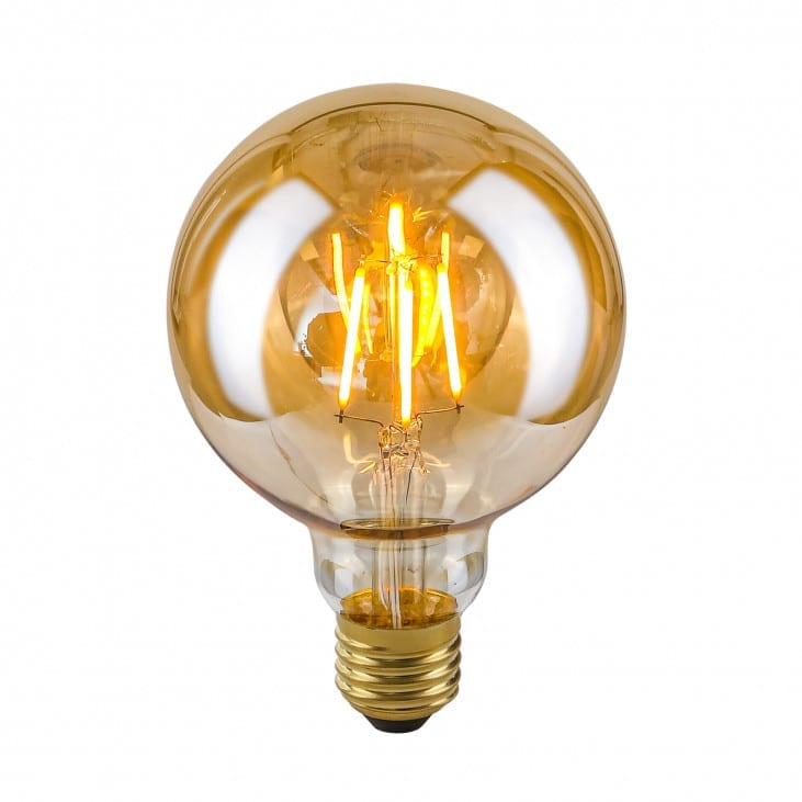 Dekoratyvinė lemputė E27 4W G95 Amber