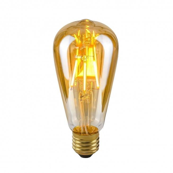 Dekoratyvinė lemputė E27 4W ST64 Amber