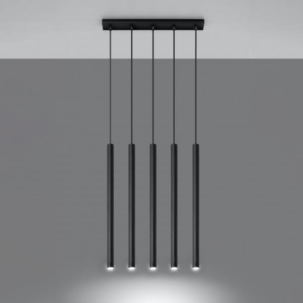Pakabinamas šviestuvas Pastelo 5 Black