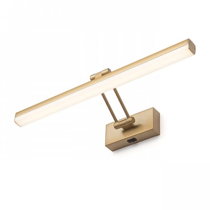 Sieninis LED šviestuvas Swing Gold Brown