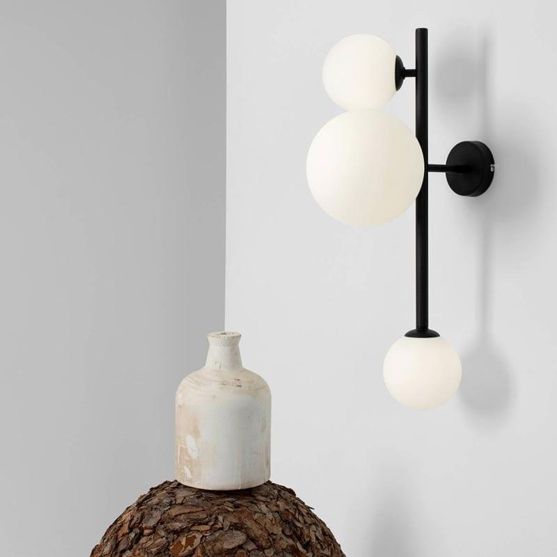 Sieninis šviestuvas Balia Black