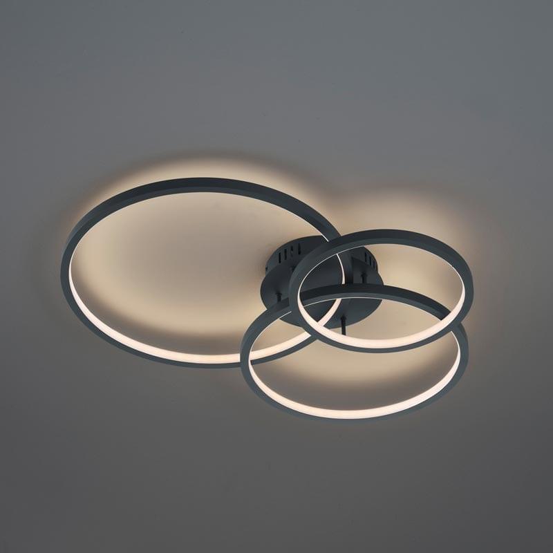 Lubinis LED šviestuvas Aaron Anthracite