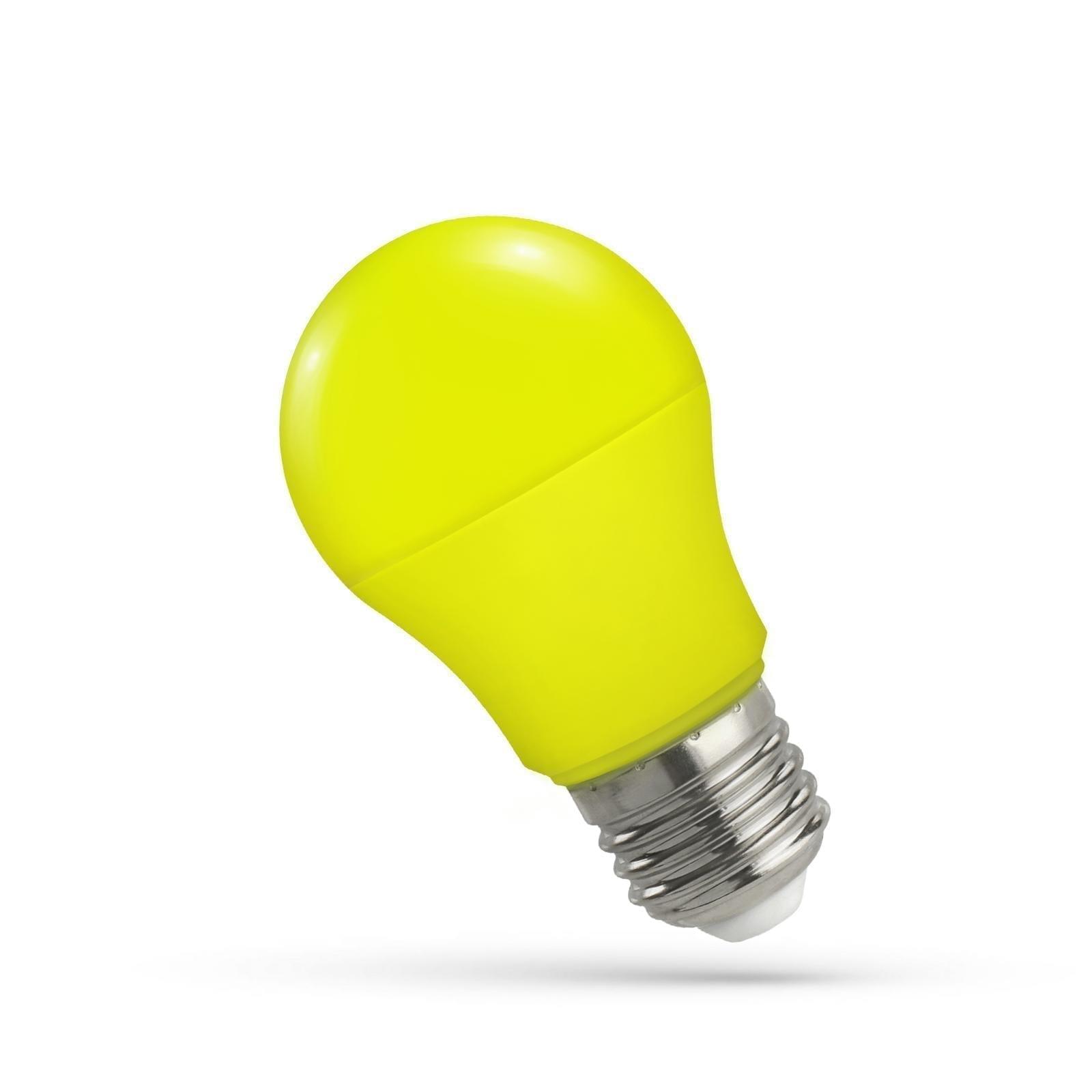5W E27 LED lemputė GLS geltona