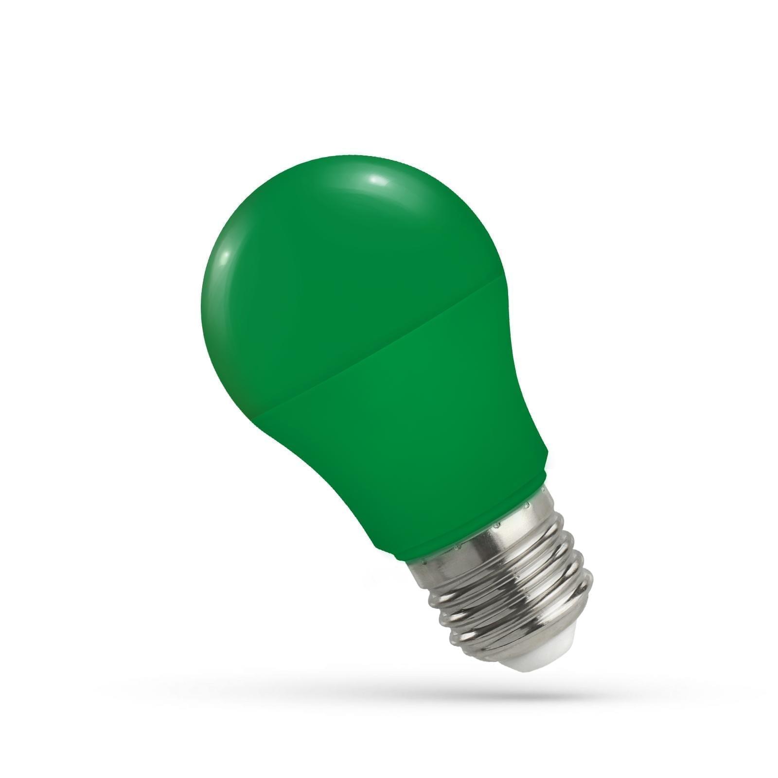 5W E27 LED lemputė GLS žalia