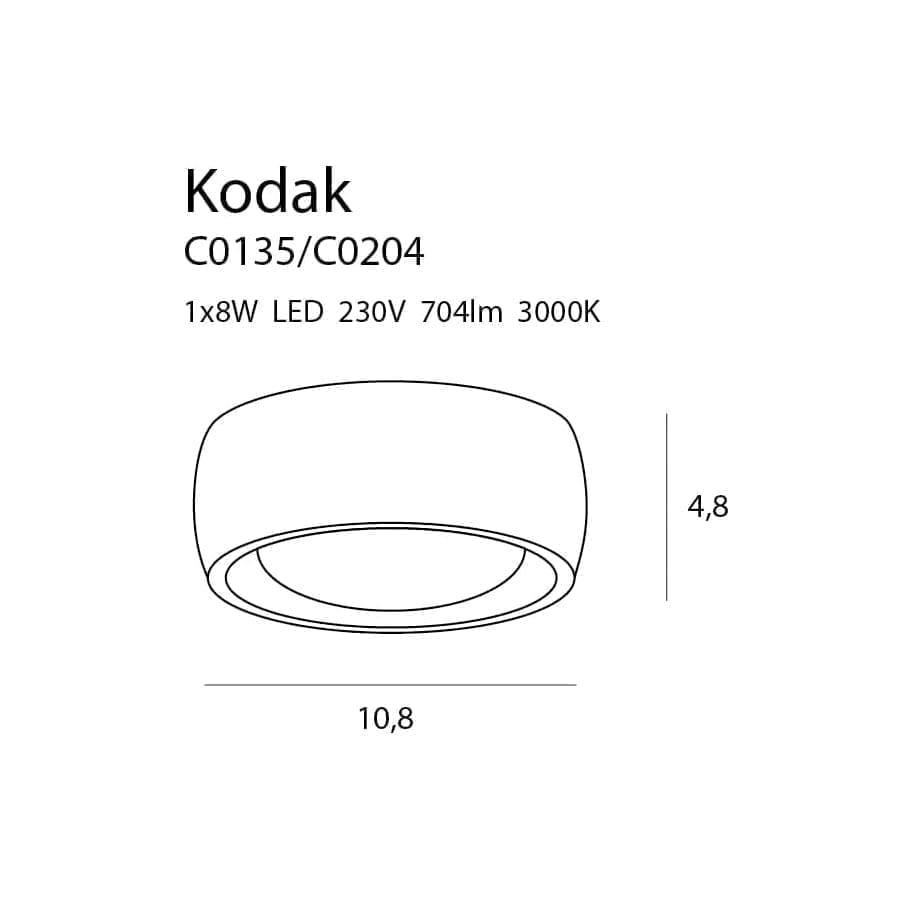Lubinis LED šviestuvas Kodak C0204