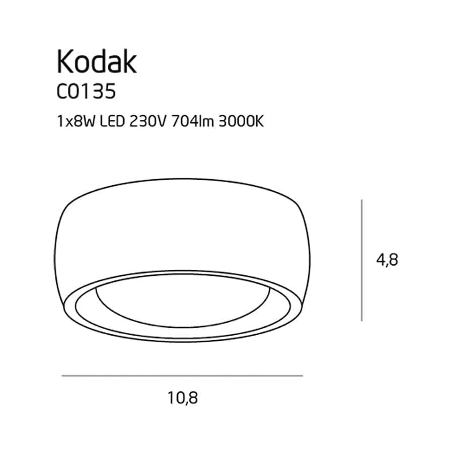 Lubinis LED šviestuvas Kodak C0135