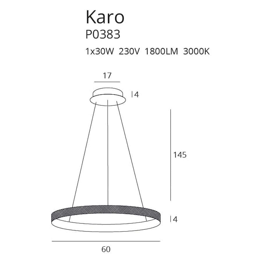 Pakabinamas LED šviestuvas Karo P0383