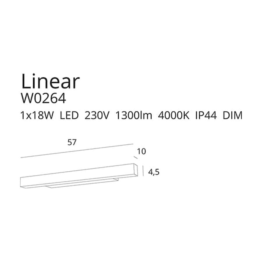 Sieninis šviestuvas LINEAR W0264