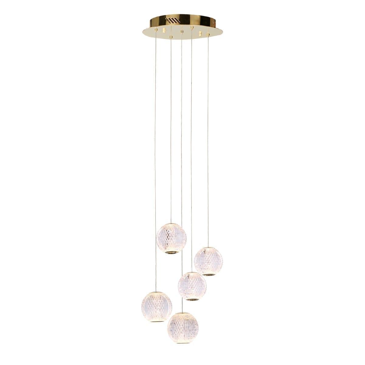 Pakabinamas LED šviestuvas Rosario 5 GD