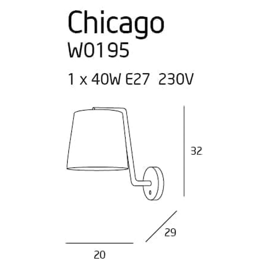 Sieninis šviestuvas Chicago CH