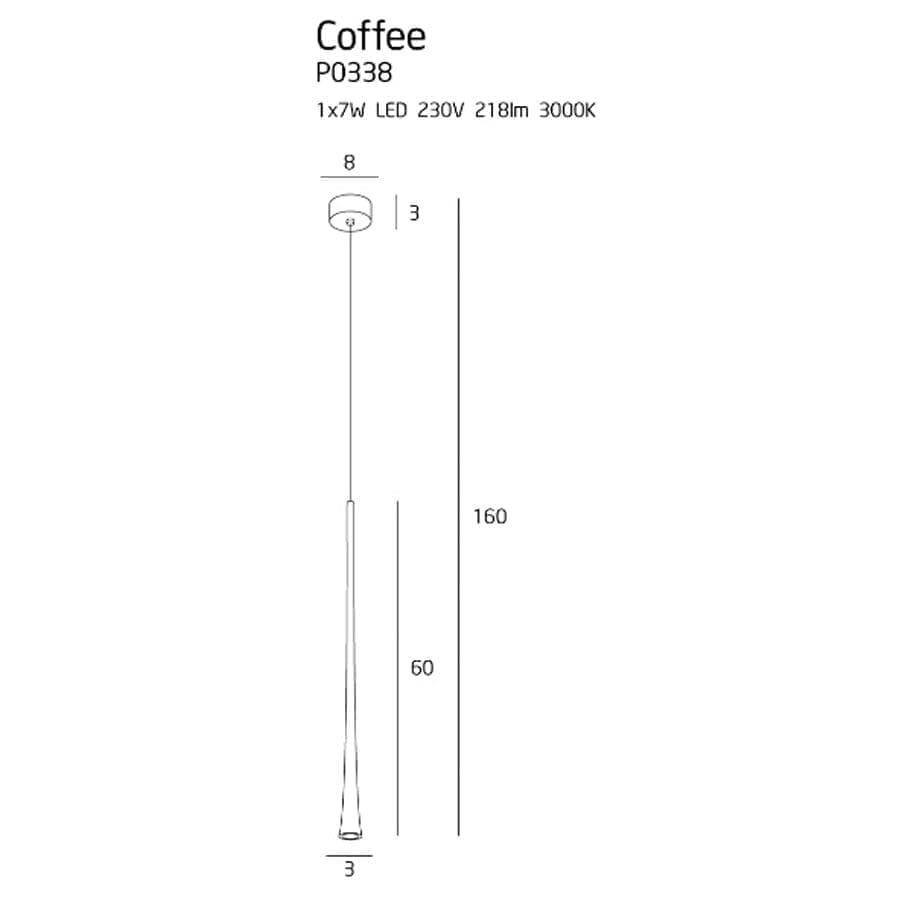 Pakabinamas Led šviestuvas Coffee M