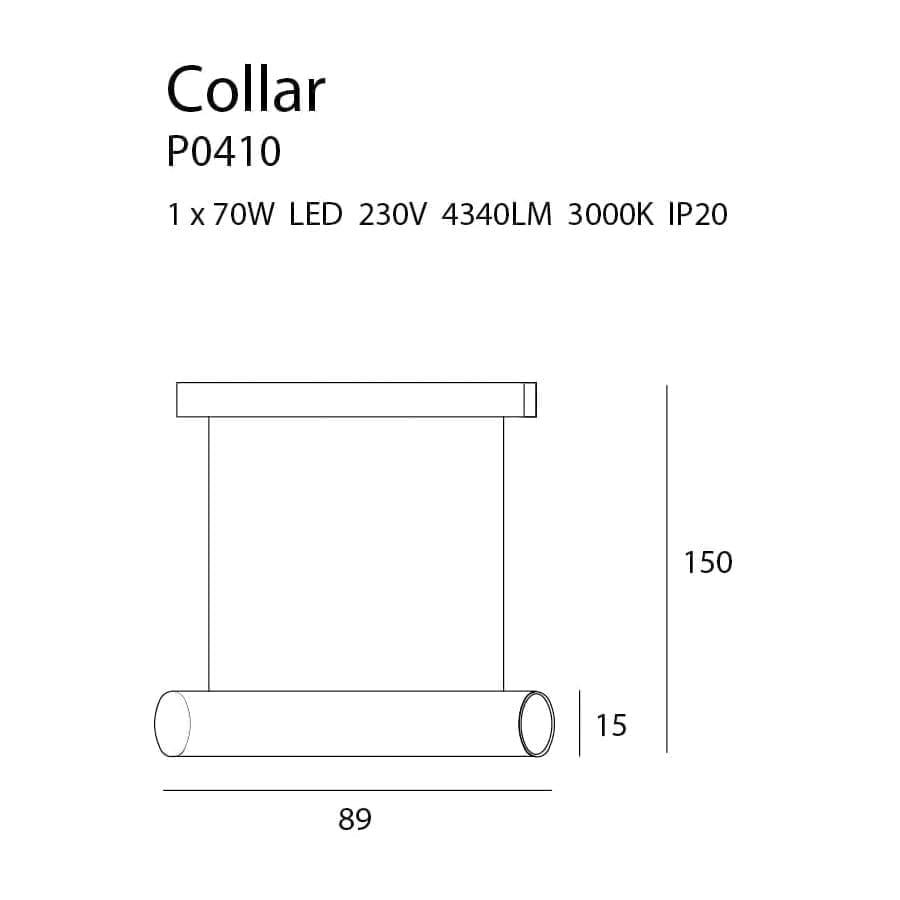 Pakabinamas LED šviestuvas Collar BK