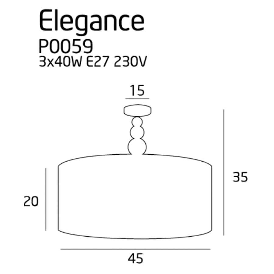 Lubinis šviestuvas ELEGANCE