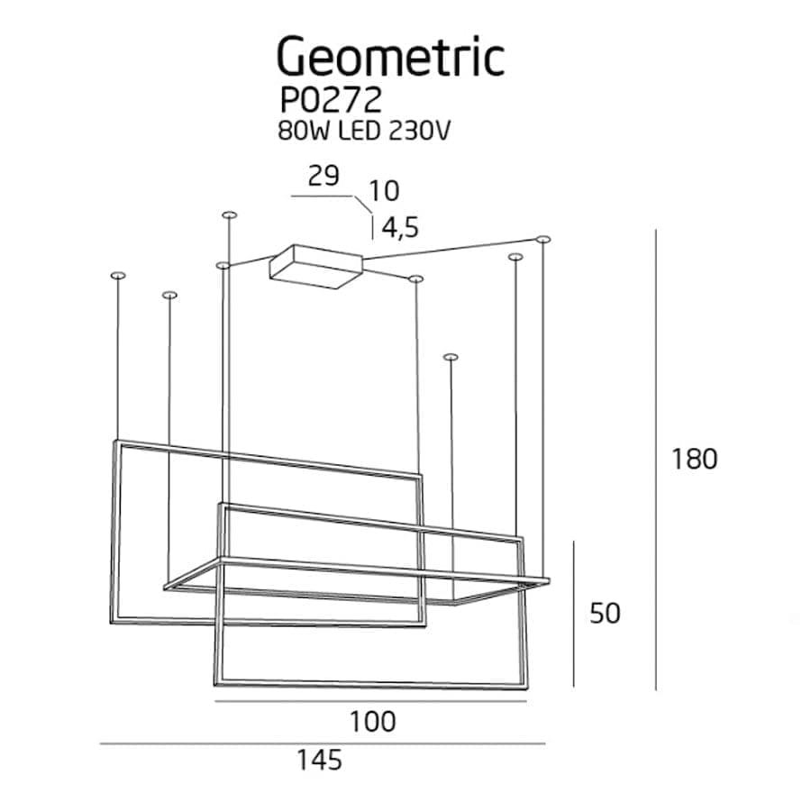 Pakabinamas LED šviestuvas Geometric P0272