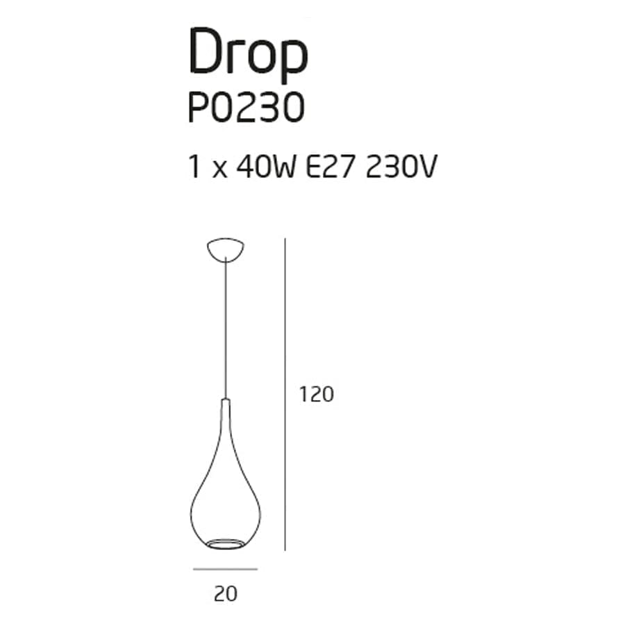 Pakabinamas šviestuvas Drop CH