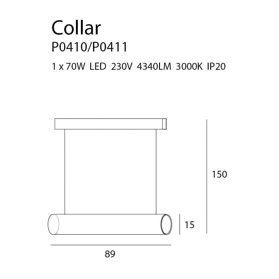 Pakabinamas LED šviestuvas Collar GD