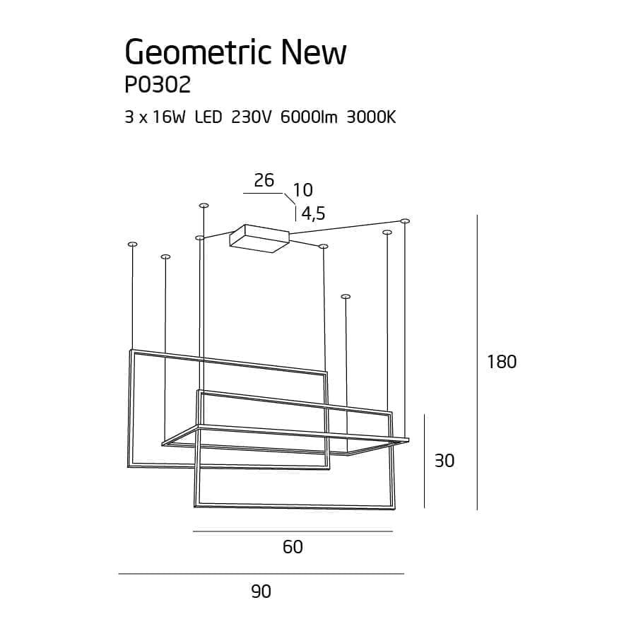 Pakabinamas LED šviestuvas Geometric New P0302